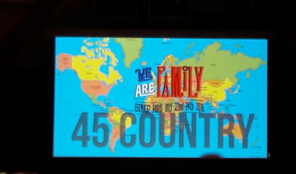 45 nationalités !